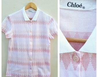 90s Chloe Women's Cotton Polo Shiry Size EU 40