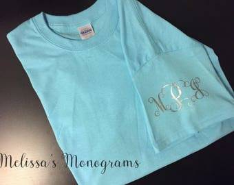 Sleeve Monogrammed/Personlized T-Shirt