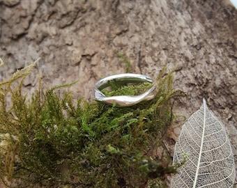 Sterling Silver Twist Ring