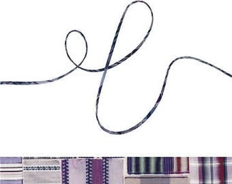 Sam A Liberty fabric cord, jewellery making supplies, printed cotton cord for crafting, embellishing or gift wrapping
