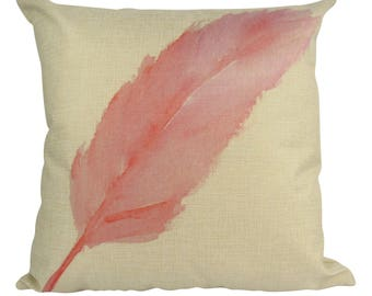 Flamingo Feather - Pillow Cover