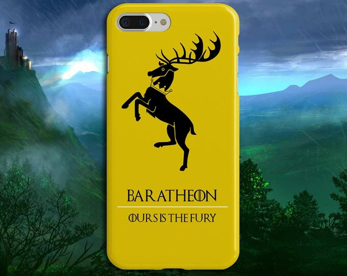 Featured listing image: Baratheon x Ours is the Fury x Game of Thrones Phone Case iPhone 7, iPhone 7 Plus, Tough iPhone Case, Galaxy s8, Galaxy Case, Stannis, Stag