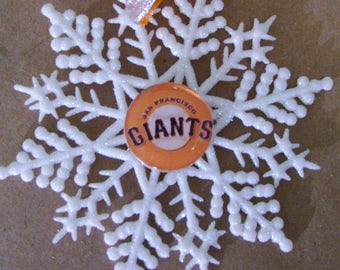 San Francisco GIANTS Baseball Handcrafted Snowflake