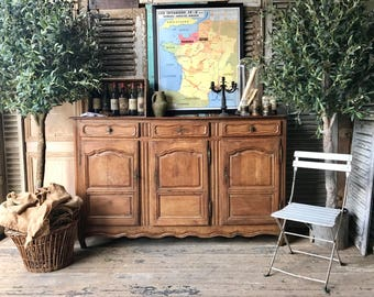 NOW SOLD - Rustic, vintage French solid oak cabinet / cupboard / sideboard