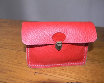 Red cover with loop for belt