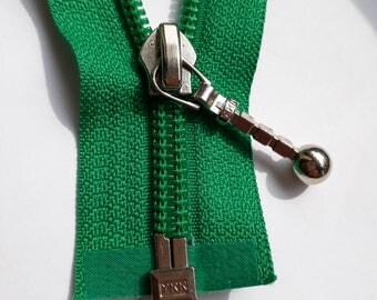 Leaf green nylon 5 vintage zipper divisible size 5 (YKK 540) zipper Cremallera glissière רוכסן cipzár молния cerniera fermeture à