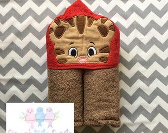 Tiger Boy Hooded Towel