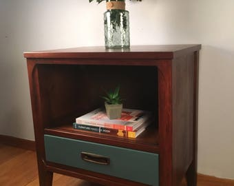 MCM Nightstand, teak and walnut; Transita by Morris of California