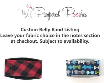 Custom Male Dog Belly Band, dog diaper, belly bands by trina, dog wrap