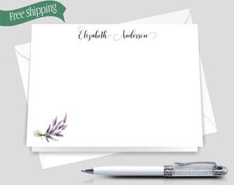 Personalized Stationery Set _ Set of 12 with envelopes _ Signature Collection _ Personalized stationery _  HWM004