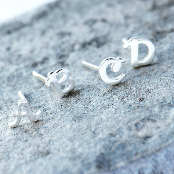 Alphabet stud earrings