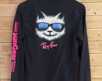 Vintage Ray Ban Shirt // Vintage Ray Ban Sungear Shirt // Vintage Ray Ban Long Sleeve Shirt