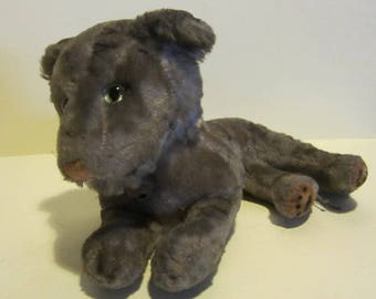 Vintage Hermann panther, mohair, Germany 9,1 inch long, ca 1960