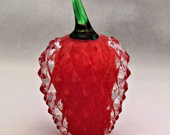 Glass Red Strawberry Fruit Garden