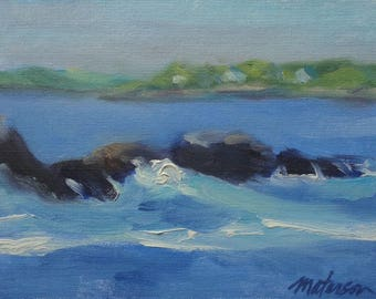 A View at Ship Cove, 6 x 8 inch Oil on Canvas Panel,