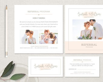 Photography Referral Card - Wedding Photography Referral Card Template, Photography Referral Program, Instant Download, Tell a Friend