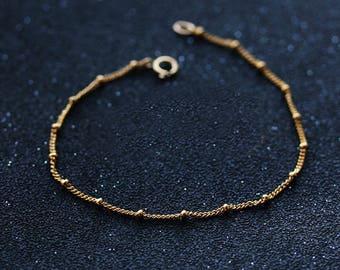 Simple Design 14K Gold Filled Pearl Bracelet