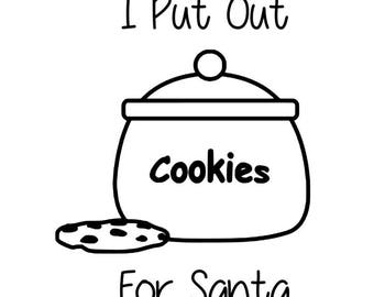 I Put Out For Santa funny Christmas decal SVG DXF STUDIO3