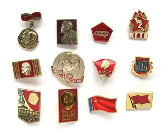 Soviet Badges, Pick from Set, Communism, Lenin, Party, Vintage collectible badge, Soviet Vintage Pin, Soviet Union, Made in USSR