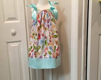 Classic Pillowcase Flip Flop Dress /satin ribbon - size 3