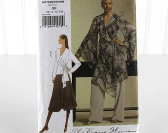 Vogue Top Tunic Skirt and Pant Sewing Pattern, Uncut Sewing Pattern, Vogue V8434, Size 8-14