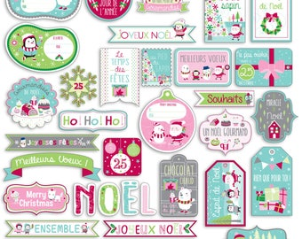 "Die cuts embellishments ""Christmas North Pole"""