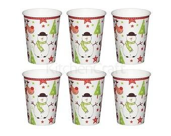 Set of 6 cups - Christmas