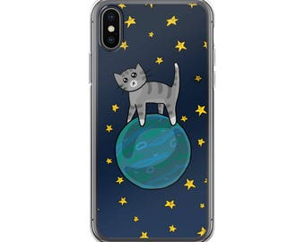 Space Kitty Case for iPhone 6 7 8 X Plus, Cute Cats, Kitty Phone Case, Phone Accessory, Phone Case, Cute Phone, Cat Lover Gift, Outer Space