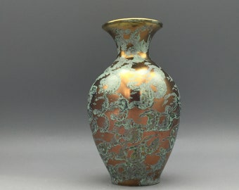 Fohr Keramik   321 - 15 vase,  decor Patina 1950s  West Germany. WGP.