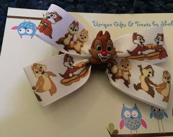 Chip n Dale Hair Bow