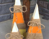 Primitive candy corn decor, wooden candy corn, Rustic fall decor, Rustic Halloween decor, candy corn decor, fall decor, Halloween decor