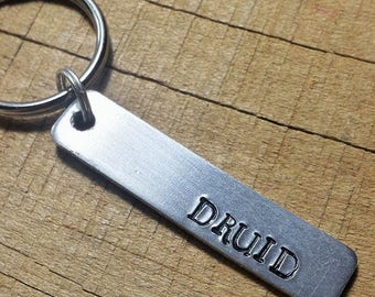 Druid Keychain - RPG Keyring - Druid Key Ring - Role Playing Game - Tabletop Game Keyring - Druid Keyring - Druid Key Chain - Fantasy Gift