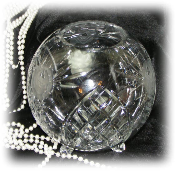 EXQUISITE CRYSTAL Round Candle Bowl (The Large One)