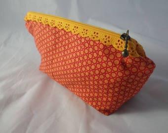 Pochette016 - Orange and Red pouch