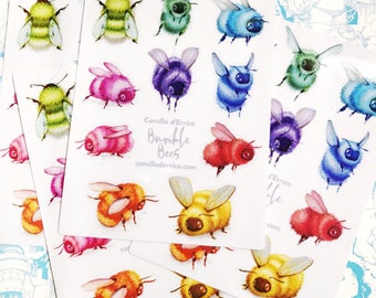 Bumble Bee Sticker Sheet