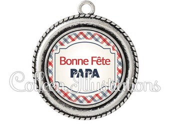 Pendant cabochons 25mm good celebrate dad mother's father - 9 series