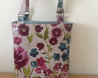 Oilcloth tote bag/shopper/lunch bag