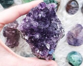 Amethyst crystal cluster ~ deep purple
