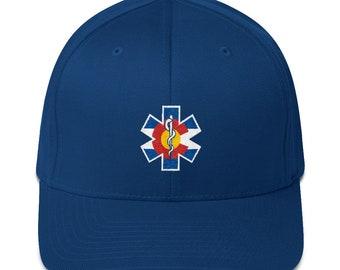 FlexFit Colorado Flag Medic Hat / Paramedic / EMT Flex Fit