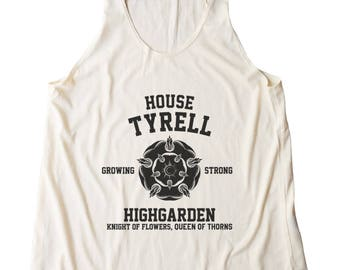 House Tyrell Tshirt Game of Thrones Top Women Fashion Shirt Ladies Gifts Funny Fitness Tank Top Women Shirt Racerback Shirt Gifts Lady Shirt