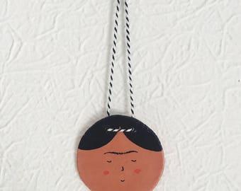 Frida Kahlo Clay Wall Hanging/ Decoration
