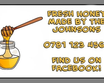 Personalised Fresh Honey Jar Self Adhesive Labels x 21