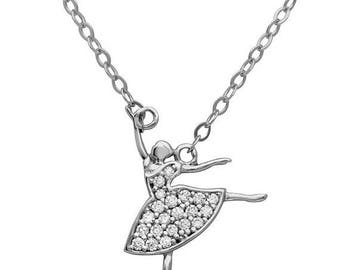 ON SALE Ballerina necklace