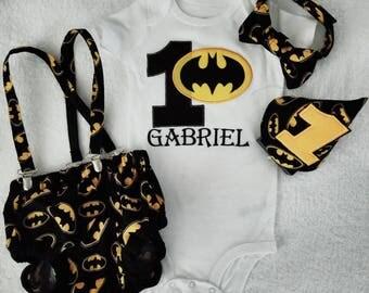 Batman Smash Cake outfit, Batman birthday outfit, Batman personized birthday shirt