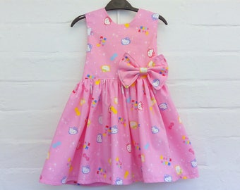 Hello Kitty dress,smash cake dress,birthday party dress,hello kitty party,hello kitty lovers,handmade dress,girl dress,Hello Kitty ,Easter