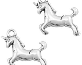 DQ Metal Pendant-unicorn-1 piece-17x16 mm-Color selectable (color: silver)