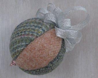 Harris Tweed Pretty Pastels Christmas Tree Bauble #149