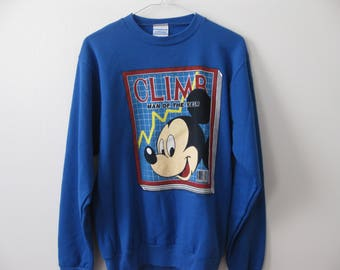 Vintage Mickey Mouse #1 Man Sweatshirt 90s USA made Adult Medium
