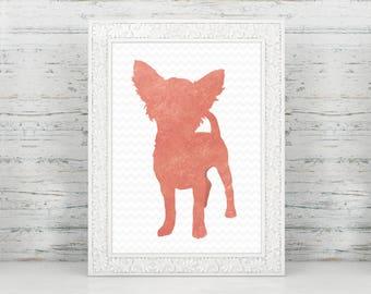 Faux Rose Gold Foil Chihuahua Print, Chihuahua Art, Chihuahua Nursery, Chihuahua Home Decor, Chihuahua Gifts, Chihuahua Lover, Chihuahua Mom
