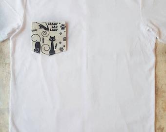 Craft cat lady, tshirt, womens shirt, cats, cat lover, custom tshirt, slogan shirt, quote tshirt, funny shirt, funny tshirt, gift for her